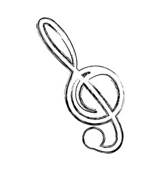 music note isolated vector image