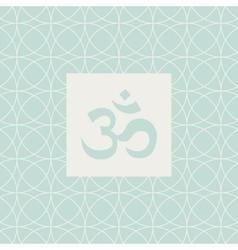 Om blue yoga studio design card vector