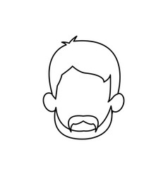 Outline head man character person vector
