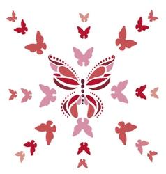 Pink butterflies vector
