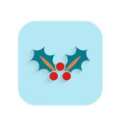 Poinsettia flower christmas flat icon holiday vector