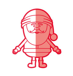 Red silhouette of santa claus waiting for hug vector