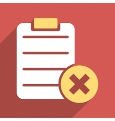 Reject form flat longshadow square icon vector