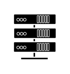 servers network icon black vector image
