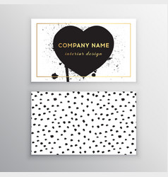 set of business card templates with dots vector image vector image