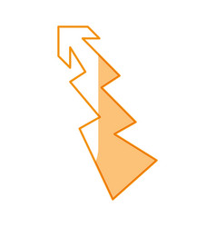 shape arrow curve vector image vector image