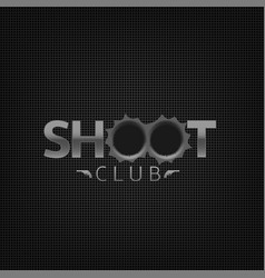 Shoot club emblem vector