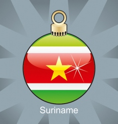 Suriname flag on bulb vector image vector image