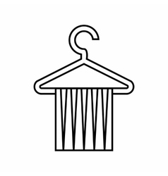 Towel rack icon outline style vector image