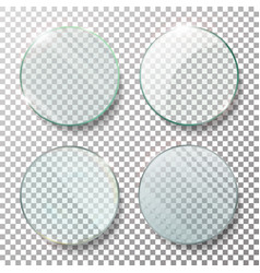 transparent round circle set realistic vector image vector image