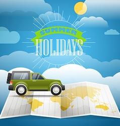 Vacation concept summer holidays vector