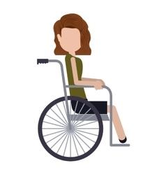 Disabled girl cartoon design vector image