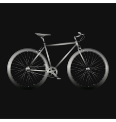 Bicycle poster quality vector image