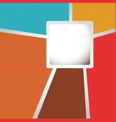 colors with squard background icon vector image