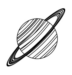 Saturn planet astronomy image line vector
