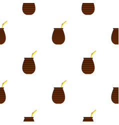 Chimarrao for mate or terere pattern seamless vector