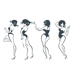 New pin up girls vector
