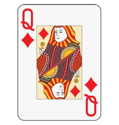 Jumbo index queen of diamonds vector image