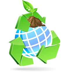 Save earth symbol vector