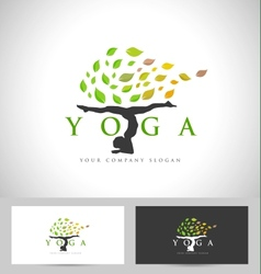 Yoga logo design creative vector