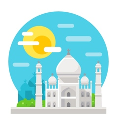 Taj mahal flat design landmark vector