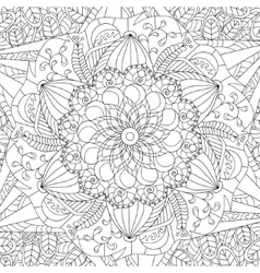 Mandala coloring for adults vector