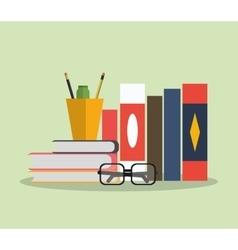 Books mug and worktime design vector