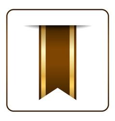 Brown bookmark banner vector