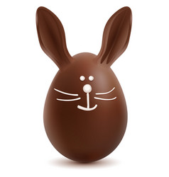 Brown easter bunny chocolate egg vector