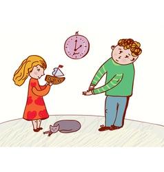 Children speaking - behavior and rules vector image