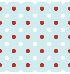 Christmas retro background with red Polka Dots vector image