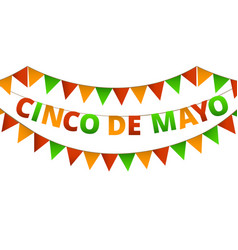 cinco de mayo colorful bunting vector image