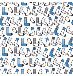 Cute colorful background socks pattern vector
