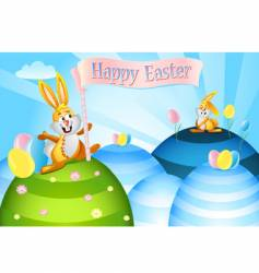 Easter rabbits vector image