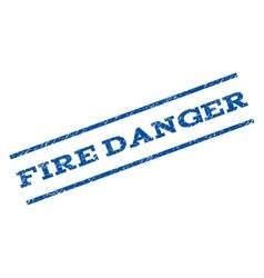Fire danger watermark stamp vector