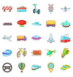 Hauling icons set cartoon style vector