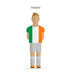 Ireland football player soccer uniform vector