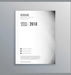 Minimal business brochure flyer design template vector