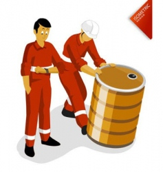 oil worker vector image vector image