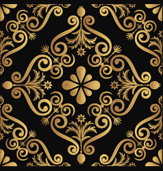 ornamental luxury pattern design golden color on vector image