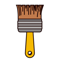 paint brush icon colorful silhouette vector image