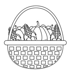 pumpkins and corns design vector image vector image