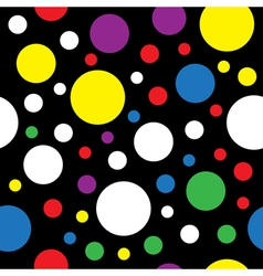 seamless - colored circles vector image