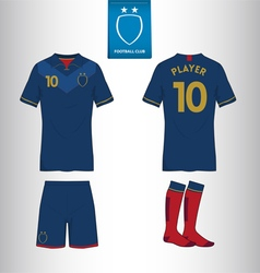 Set of soccer or football kit template vector image vector image