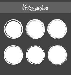 set of vintage ink painted labels for greetings vector image
