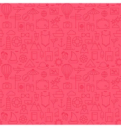 Summer line travel and resort pink seamless vector