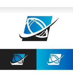Swoosh Football Logo Icon vector image vector image
