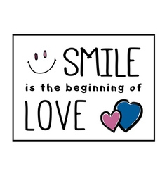 T shirt smile beginning love vector