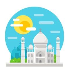 Taj mahal flat design landmark vector