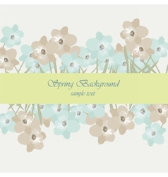 Vintage flowers card border vector